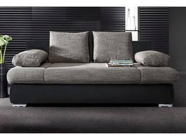COLLECTION AB Schlafsofa, schwarz, 202 cm, schwarz/grau