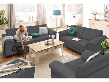 Home affaire Sitzgruppe »Anna«, (Set, 2 tlg), 2-Sitzer und 3-Sitzer, grau, dunkelgrau