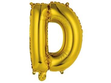 BUTLERS UPPER CLASS »Folienballon D«, gold, Breite 33,5 x Tiefe 40 x