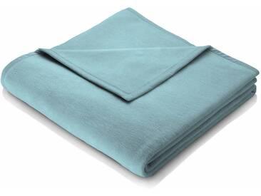 BIEDERLACK Wohndecke »Cotton Home«, im Uni Design, grün, Baumwolle-Kunstfaser, türkis