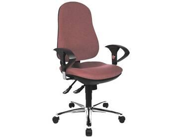 TOPSTAR Bürostuhl mit Armlehnen »Support Deluxe«, rot, bordeaux
