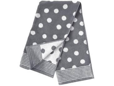 Dyckhoff Badetuch »Dots«, mit Punkten, grau, Walkfrottee, grau