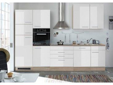 HTI-Living Einbauküche »Laurel«, weiß, Weiß Hochglanz