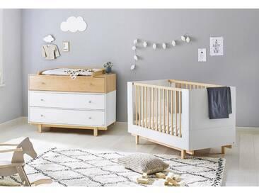 Pinolino® Pinolino Babyzimmer-Set (2-tlg.), Sparset, »Boks, breit«, weiß, Weiß