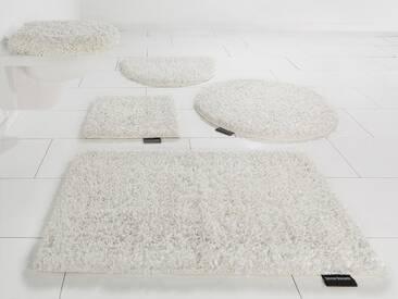 Bruno Banani Badematte »Manu« , Höhe 22 mm, rutschhemmend beschichtet, natur, 22 mm, elfenbeinfarben