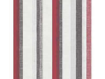 SCHÖNER WOHNEN-KOLLEKTION Vliestapete, P+S, »Streifen Tapete«, bunt, rot-schwarz-grau