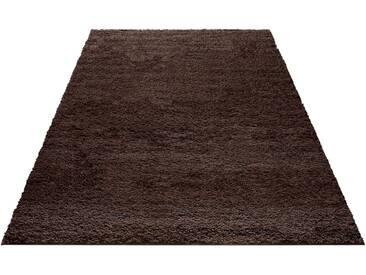 my home Hochflor-Teppich »Bodrum«, rechteckig, Höhe 30 mm, braun, 30 mm, dunkelbraun