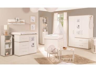 Roba® Roba Babyzimmer Set (3-tlg) Kinderzimmer »Moritz« schmal, weiß, weiß/Luna Elm
