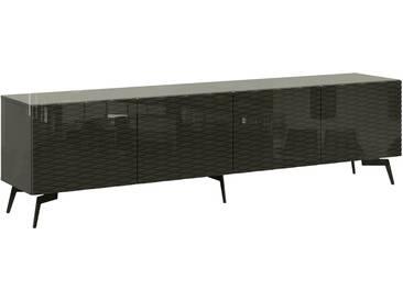 Bruno Banani bruno banani Lowboard »Design 4«, mit 3D-Fronten in Hochglanz, in zwei Breiten, grau, 4 Türen (211/42/57 cm), graphit Hochglanz