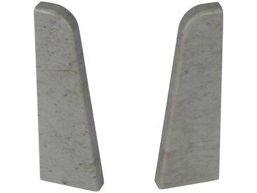EGGER Endstücke »Stein grau«, für 6 cm Sockelleiste, grau, stein/grau