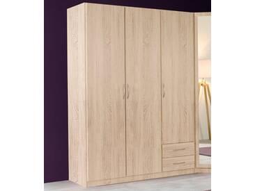 Wimex Kleiderschrank »Sprint«, natur, 3-türig, Höhe 175 cm, Ohne Spiegel, Ohne Spiegel, struktureichefarben hell