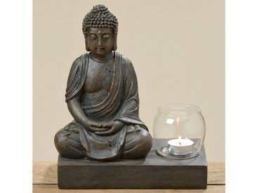 BOLTZE Windlicht »Buddha«, braun, 22x12x25 cm, braun