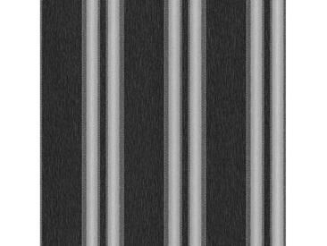 SCHÖNER WOHNEN-KOLLEKTION Vliestapete, P+S, »Streifen Tapete«, bunt, grau-schwarz-metallics