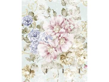Artland Schlüsselbrett »tanginuk1205: Blumen mit nahtlosem Muster«, rosa, 25x20 cm, Pink