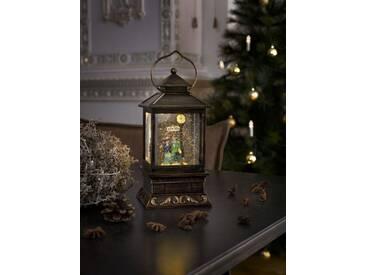 KONSTSMIDE Konstsmide LED Schneelaterne mit Pärchen, braun, Lichtquelle Warm weiß, braun
