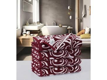 Descanso Handtücher »Aizy«, mit orientalischen Muster, rot, Jaquard-Walkfrottier, bordeaux