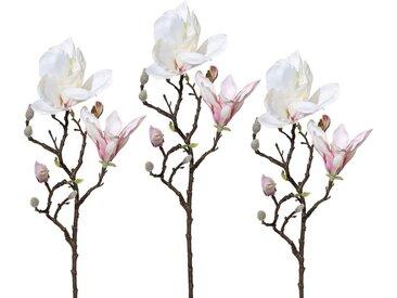 Kunstzweig »Magnolie« (3 Stück), Höhe 52 cm, rosa, rosa
