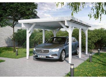 Kiehn-Holz Einzelcarport »KH 300 / KH 301«, BxT: 344x504 cm, Stahl-Dach, verschiedene Farben, weiß, 396 cm, weiß