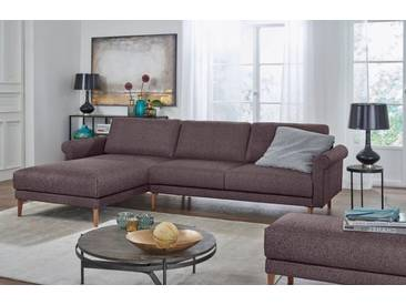 Hülsta Sofa hülsta sofa Polsterecke »hs.450« im modernen Landhausstil, Breite 262 cm, Recamiere links, purpurviolett/steingrau