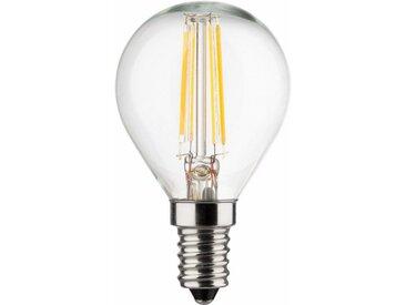 MÜLLER LICHT »Tropfenform« LED-Leuchtmittel, E14, 4 Stück, Warmweiß, weiß, weiß