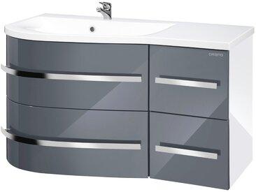 ORISTO Waschtisch »Opal«, Breite 90 cm, (2-tlg.), grau, grau/weiß