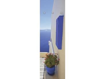 Artland Wandgarderobe »Yiannis Dimkopoulos: Treppen ins Blaue hinein«, blau, 140 x 45 x 2,8 cm, Blau