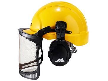 GARDENA UNIVERSAL Sicherheitshelm »PRO016«, mit Gehör- und Sichtschutz, gelb, gelb
