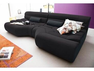 TRENDMANUFAKTUR Big-Sofa, schwarz, 290 cm, schwarz/anthrazit