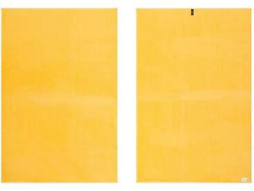 Vossen Handtücher »New Generation«, große Farbauswahl, gelb, Walkfrottee, gelb