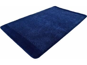 Kleine Wolke Badematte »Singapur« , Höhe 20 mm, rutschhemmend beschichtet, fußbodenheizungsgeeignet, blau, 20 mm, dunkelblau