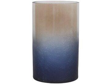 massivum Windlicht aus Glas »Pan«, blau, 12x20x12cm, blau