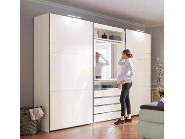 Fresh To Go Schwebetürenschrank »Magic« mit drehbarer Spiegeltür, weiß, Schubladen: 4, weiß
