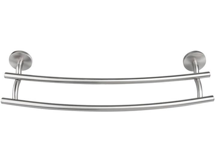 FACKELMANN Handtuchhalter »Fusion«, silberfarben, Doppel-Handtuchreling, silberfarben Silber