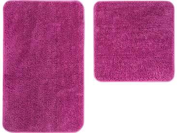 Andiamo Badematte »Micro« , Höhe 8 mm, rutschhemmend beschichtet, fußbodenheizungsgeeignet, lila, 8 mm, lila