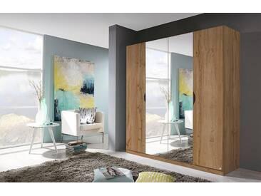 rauch PACK´S Kleiderschrank »Freiham«, mit Spiegel, braun, Breite 181 cm, 4-türig, eiche wotanfarben