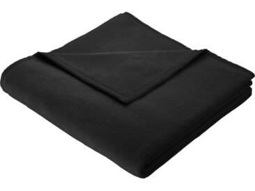 BIEDERLACK Wohndecke »Cotton Home«, im Uni Design, schwarz, Baumwolle-Kunstfaser, schwarz