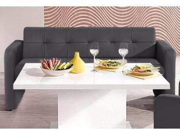 exxpo - sofa fashion Hockerbank, Gala collezione , mit Rückenlehne, grau, 3er Bank, anthrazit