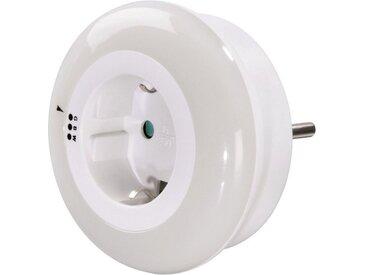 Hama Nachtlicht LED mit Dämmerungssensor und Steckdose, 3 Farben »Schlummerlicht Stimmungslicht«, weiß, Weiss