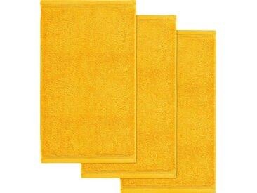Möve Gästehandtücher »Superwuschel«, in kräftigen Farben, gelb, goldfarben