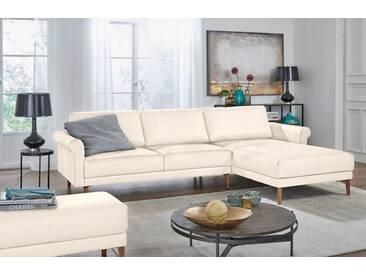 Hülsta Sofa hülsta sofa Polsterecke »hs.450« im modernen Landhausstil, Breite 262 cm, weiß, Recamiere rechts, perlweiß