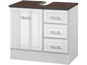 HELD MÖBEL Waschbeckenunterschrank »Neapel«, Breite 60 cm, braun, weiß/grau