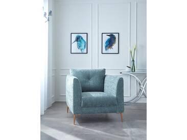 Guido Maria Kretschmer Home&Living GMK Home & Living Sessel »Fock«, grün, mint