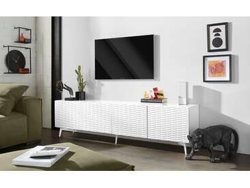 Bruno Banani bruno banani Lowboard »Design 4«, mit 3D-Fronten in Hochglanz, in zwei Breiten, weiß, 4 Türen (211/42/57 cm), weiß Hochglanz
