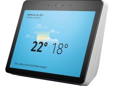 Echo Show 2. Generation Stereo Smart-Speaker (WLAN (WiFi), Bluetooth, Mikrofon, Alexa-Sprachsteuerung, mit Bildschirm), weiß, weiß