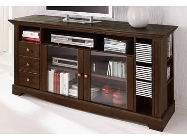 Home affaire TV-Tisch, Breite 153 cm, Belastbarkeit bis 40 kg, braun, kolonial