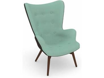 Max Winzer® build-a-chair Hochlehner Stuhlsessel »Arne« im Retrolook, zum Selbstgestalten, blau, Korpus: Flachgewebe 16452 schoko