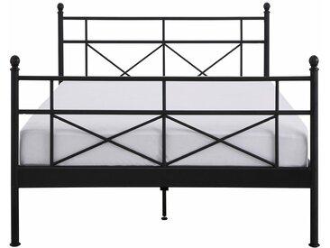 Home affaire Metallbett »Thora«, aus einem schönen Metallgestell, in verschiedenen Bettbreiten und verschiedenen Farben, schwarz, schwarz