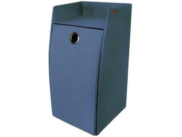 Franz Müller Flechtwaren Wäschebox, rechteckig aus Polyester, blau, blau