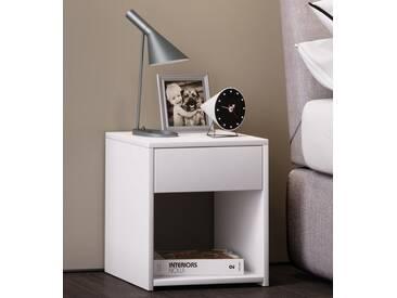 VCM Nachttisch Sledo Mini, weiß, Weiß