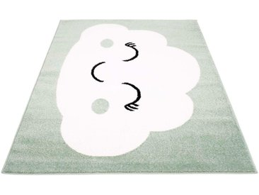 Carpet City Kinderteppich »Bubble Kids 1324«, rechteckig, Höhe 11 mm, Wolken Design, Kurzflor, grün, grün